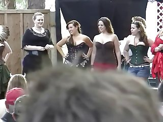 Nine curvy girls in contest