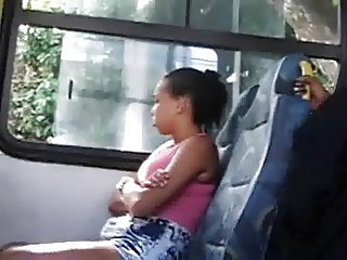 Flashing teen in bus