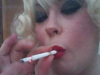 Tina Smoking A Eve 120 Cigarette - Dangles Fetish Domme