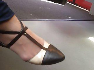 Nice shoes on train