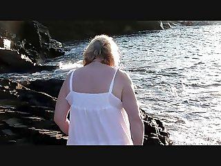 Lydia,65yrs and I love posing at Harlyn Bay