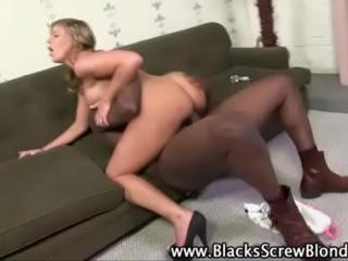Dirty slut riding black cock
