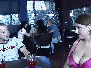 milf fucked in a restaurant