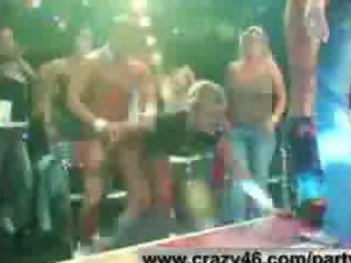 Girls Get Drunk and Fuck and Suck Male Strippers at Party