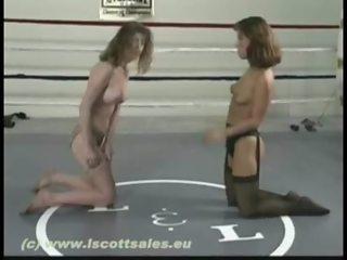Stocking Wrestling Monique vs Jasman 2