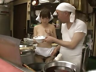 Japanese Waitress Fucked In Restaurant xLx
