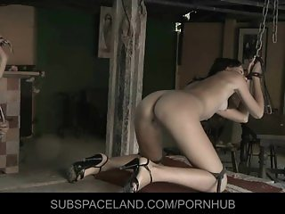 Painful slaps and anal bliss for bounded Aspen