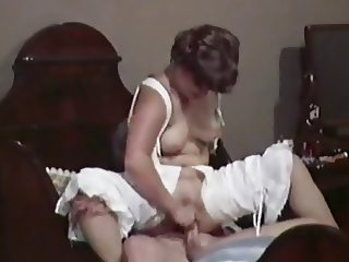 Retro chicks get their shaved pussies pounded