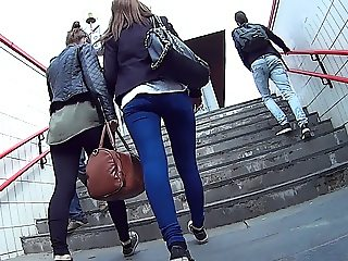 Tight ass jeans candid upstairs #GoProSpy HD