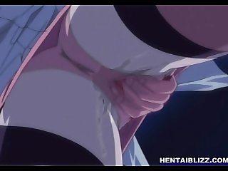 Lingeries anime girl sucking bigcock