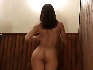 Stunning brunette get naked