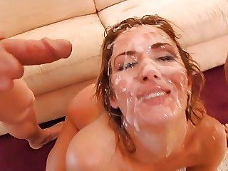 Nasty Bitch Nearly Drowns In Sperm