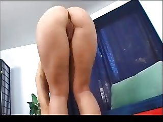 Busty Young Brunette Opening Her Legs BVR