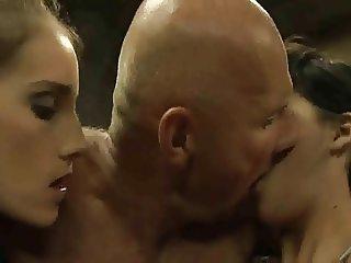 Old man bangs three girls