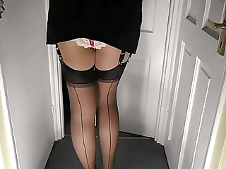 Miniskirt Stocking Tops and Knickers