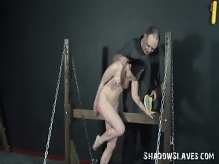 Cruel electro bdsm of cattle prodded teen slavegirl in shocking pain and harsh