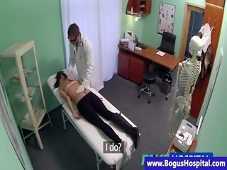 Fake doctor takes pussy temperature