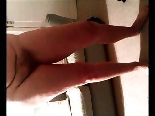 Secretly filmed chubby wife undressing and close up