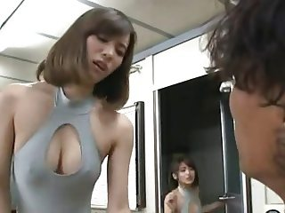 Instructor and 2 horny japanese beauties