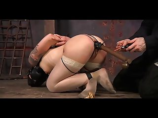 Short haired slavegirl in dungeon