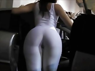 Promodora Hot ass Whie Spandex