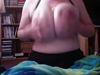 Oiled 40GG tits and a banana