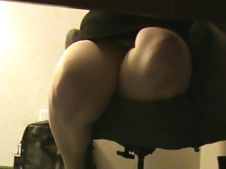BBW Missy Playing Under Desk and Watching Porn