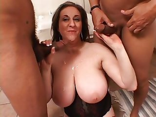 Spit Roasting Big Titted Hairy Cunted Mature Kitty