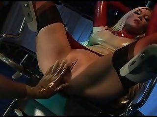 British slut Michelle B in a kinky FFM threesome