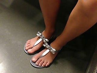 Feet and upskirt