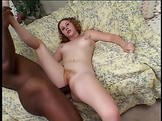 Monster black dick pounds white slut