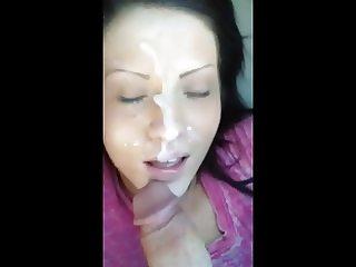 Pretty Girl Gets A Phone Facial