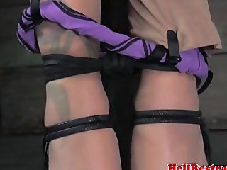 Electrosex with useless skank in the dungeon