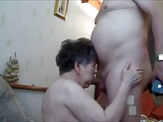 Grandma mouthfucked