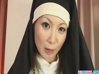 Unholy nun fucking Rika Sakurai gets it in the ass