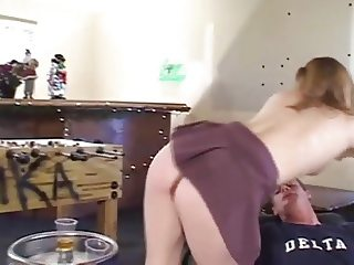 Freckled Redhead Teen Allison Buttfucked By Frat Boy