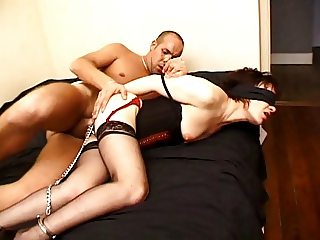 FRENCH CASTING 121 slave brunette babe tied