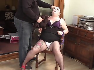 Smoking A Cig Then Chained & Make Up Removed! BBW Crying