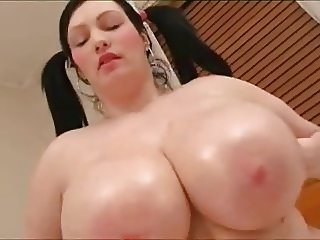 Solo #55 (Busty BBW with Pigtails Toying Around)