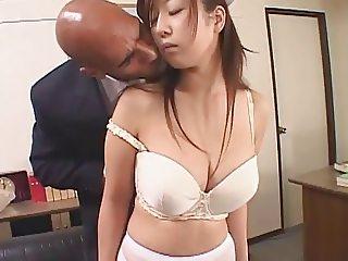 Japanese Nurse Fucks Big Black Dick 420