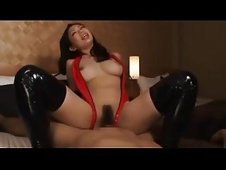 Red leather lady on top
