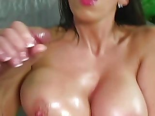 Alia Janine Jizz On Her Big Boobs