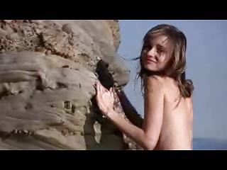 Nude Beach - So Cute - Skinny Rehead Photo Shoot