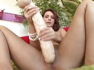 Chick with Big Toys Pumps her Pussy