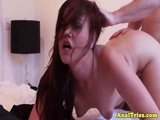 Anal loving girlfriend gets facial