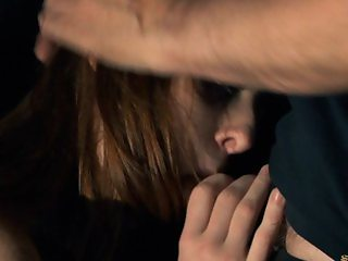 Freckled redhead teen bondaged and fucked