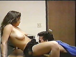 Peter North fucks Tamara Lee over a desk - Rare scene