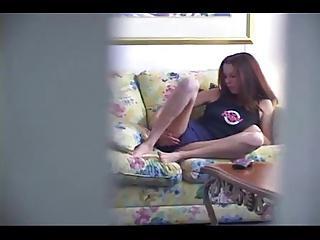 Hidden cam.....girl masturbate