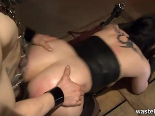 Chained up butt plugged and fucked hardcore d