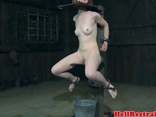 Bondage bdsm sub fucked by machine